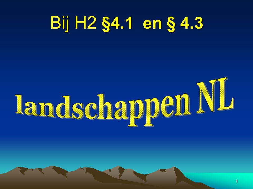 Bij H2 §4.1 en § 4.3 landschappen NL
