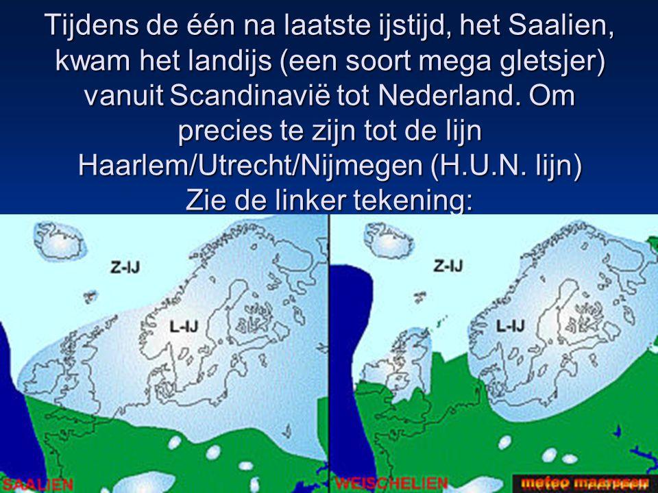 Tijdens de één na laatste ijstijd, het Saalien, kwam het landijs (een soort mega gletsjer) vanuit Scandinavië tot Nederland.