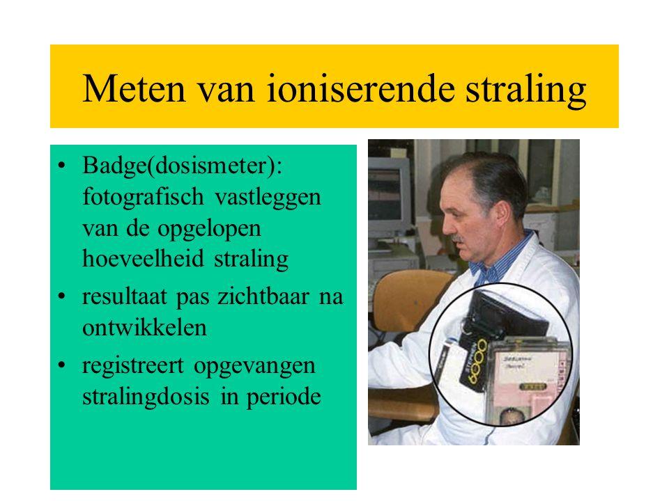 Meten van ioniserende straling