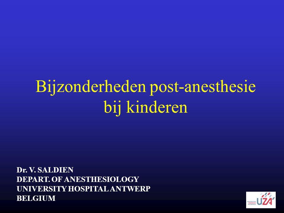 Bijzonderheden post-anesthesie bij kinderen