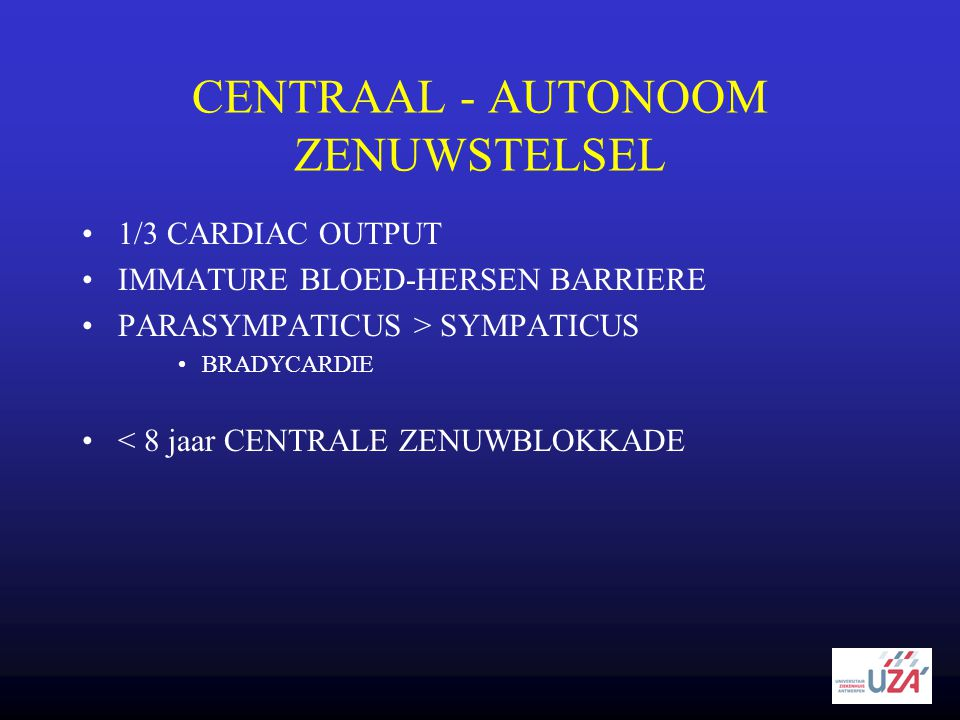 CENTRAAL - AUTONOOM ZENUWSTELSEL