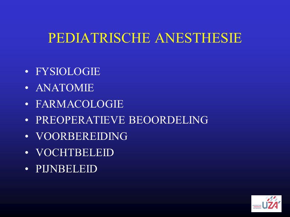PEDIATRISCHE ANESTHESIE