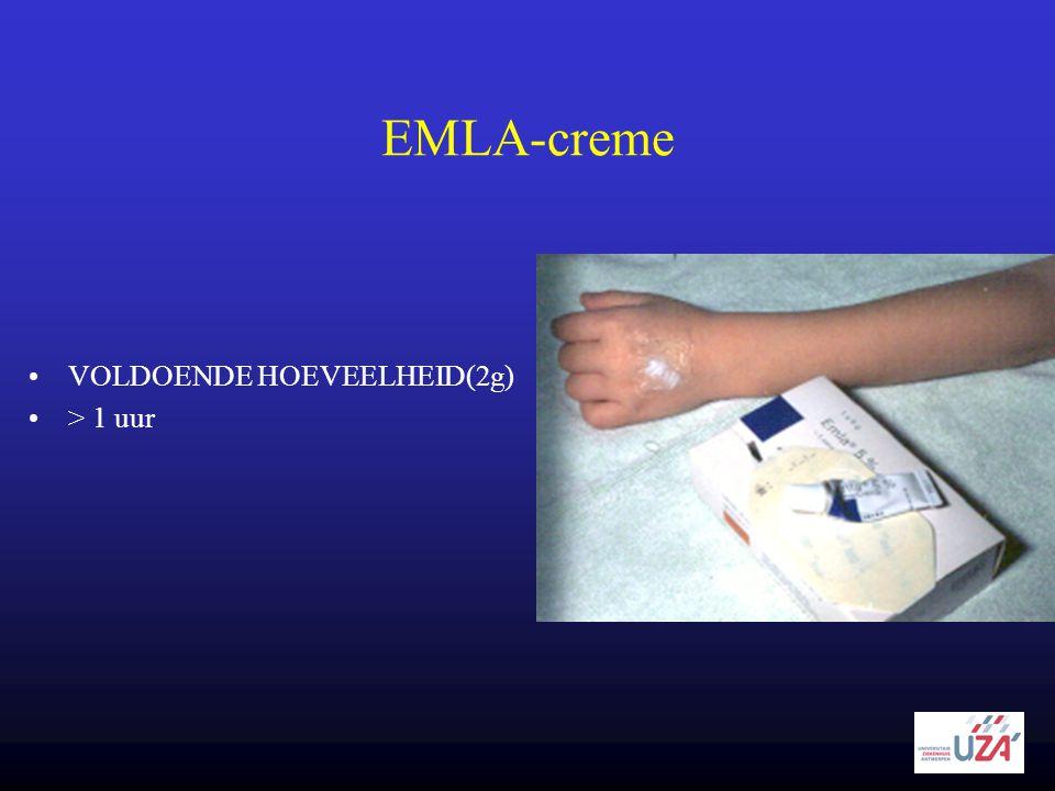 EMLA-creme VOLDOENDE HOEVEELHEID(2g) > 1 uur