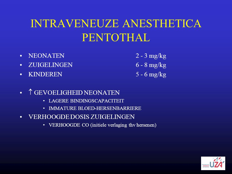 INTRAVENEUZE ANESTHETICA PENTOTHAL
