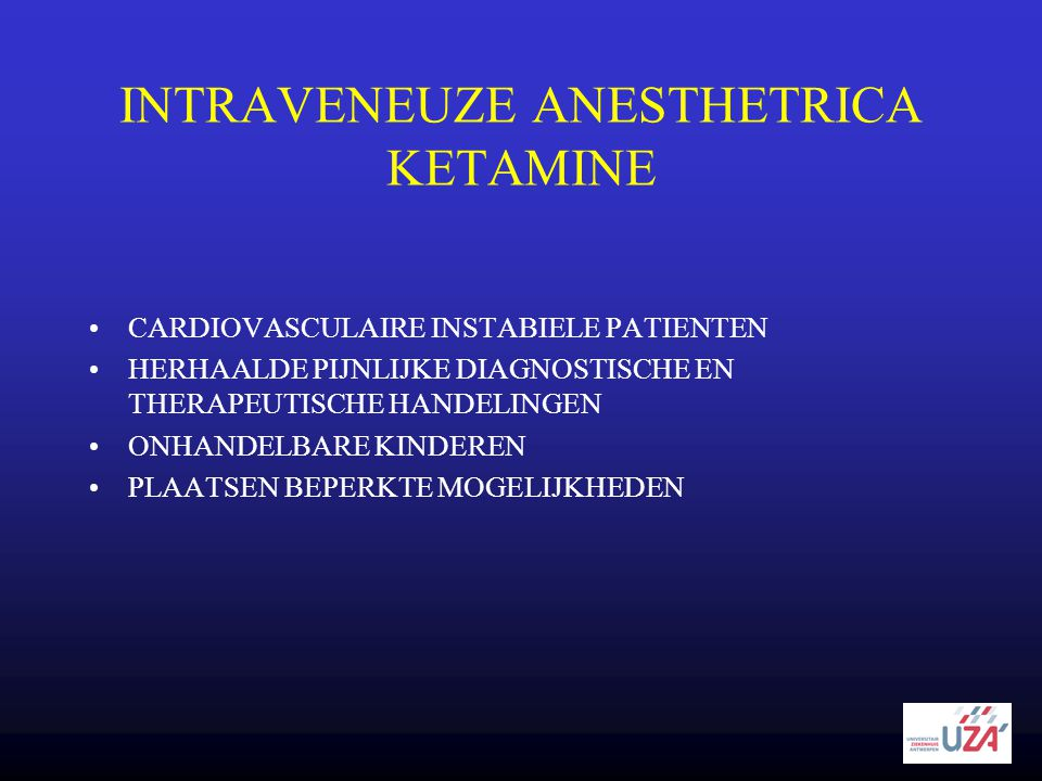 INTRAVENEUZE ANESTHETRICA KETAMINE