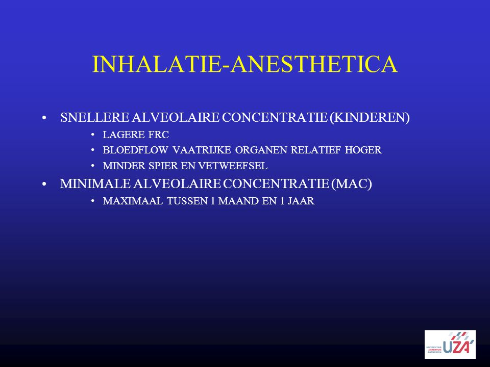 INHALATIE-ANESTHETICA