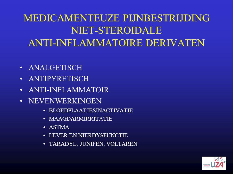 MEDICAMENTEUZE PIJNBESTRIJDING NIET-STEROIDALE ANTI-INFLAMMATOIRE DERIVATEN