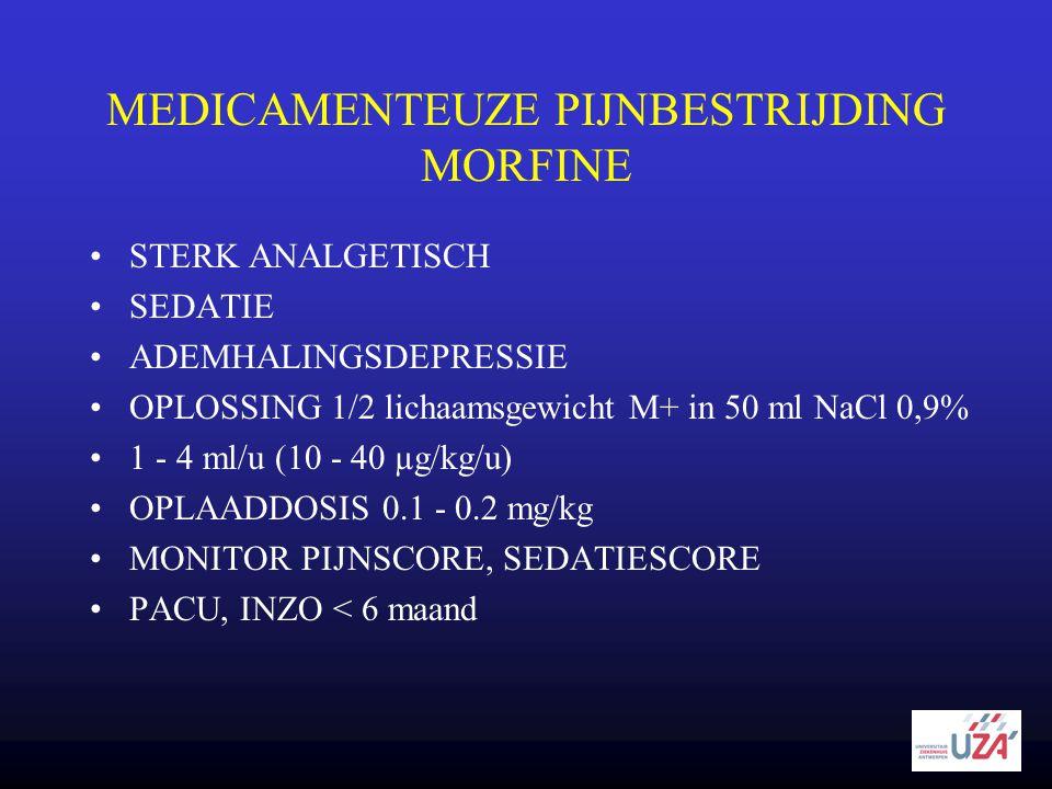 MEDICAMENTEUZE PIJNBESTRIJDING MORFINE