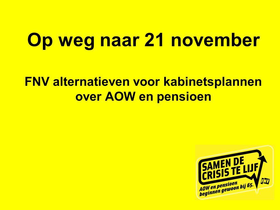FNV alternatieven voor kabinetsplannen over AOW en pensioen