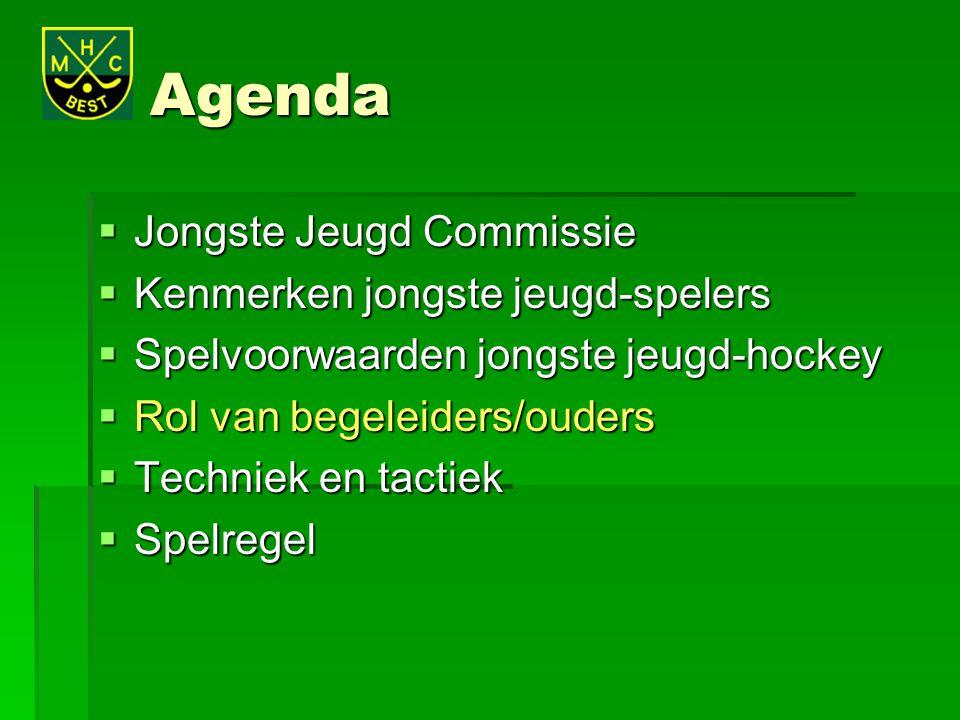 Agenda Jongste Jeugd Commissie Kenmerken jongste jeugd-spelers