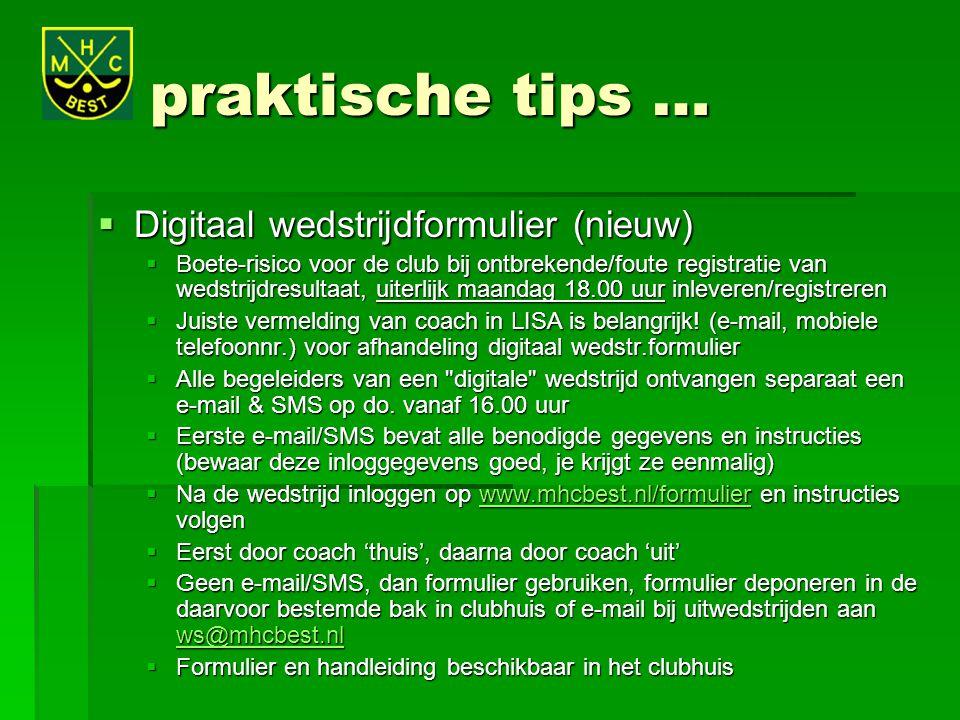 praktische tips … Digitaal wedstrijdformulier (nieuw)