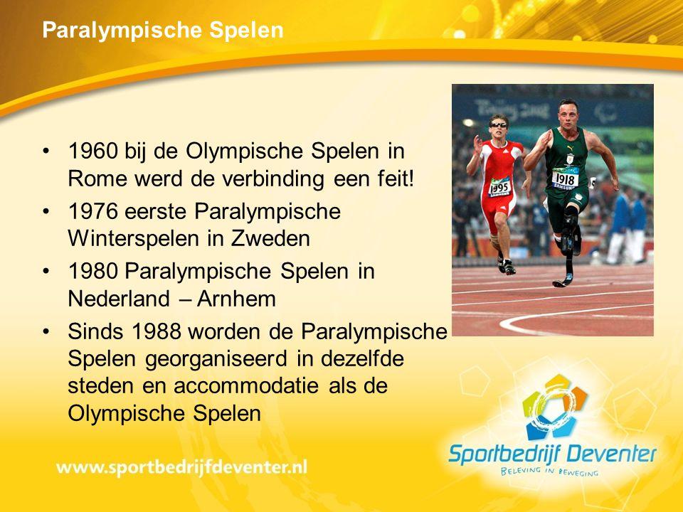 1960 bij de Olympische Spelen in Rome werd de verbinding een feit!