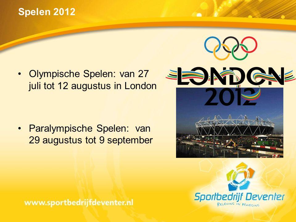 Olympische Spelen: van 27 juli tot 12 augustus in London