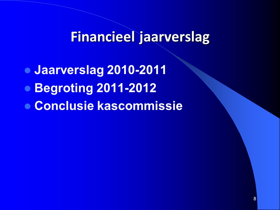 Financieel jaarverslag