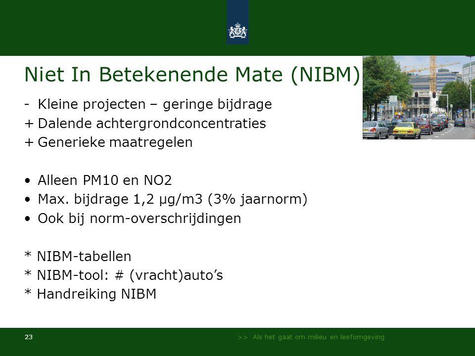 Niet In Betekenende Mate (NIBM)