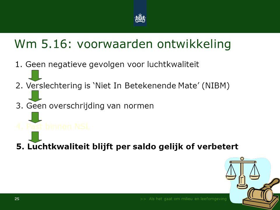 Wm 5.16: voorwaarden ontwikkeling