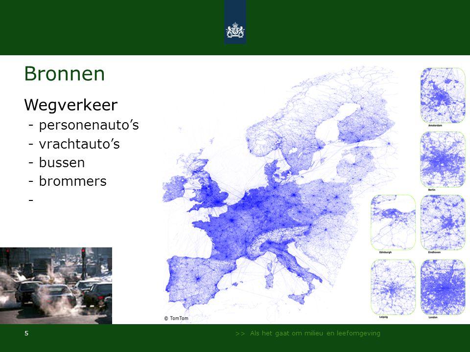 Bronnen Wegverkeer - personenauto's - vrachtauto's - bussen - brommers