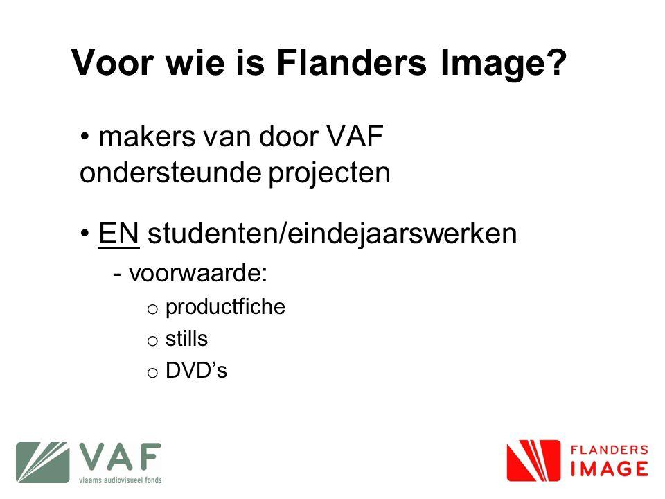 Voor wie is Flanders Image