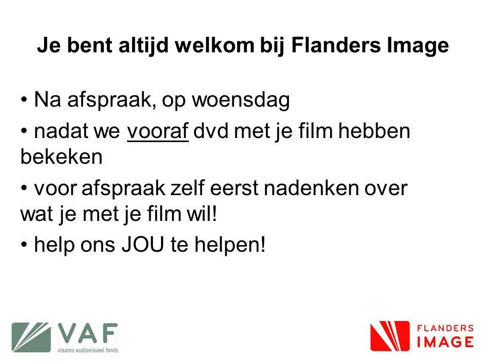 Je bent altijd welkom bij Flanders Image