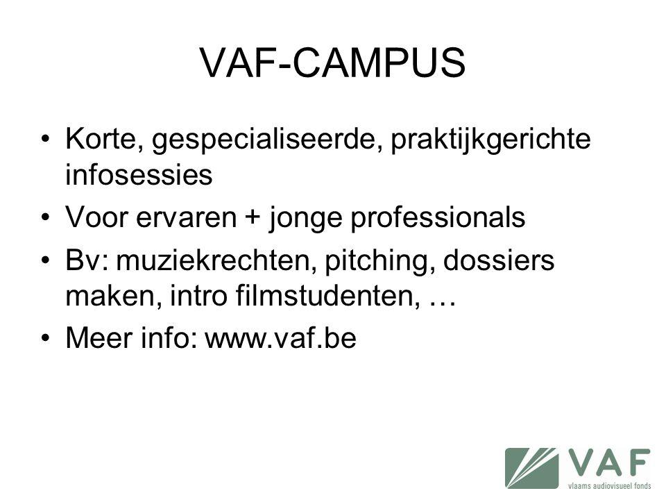 VAF-CAMPUS Korte, gespecialiseerde, praktijkgerichte infosessies