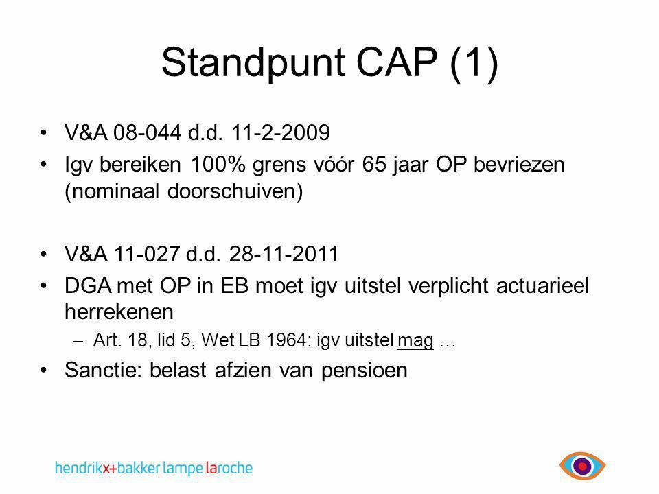 Standpunt CAP (1) V&A 08-044 d.d. 11-2-2009