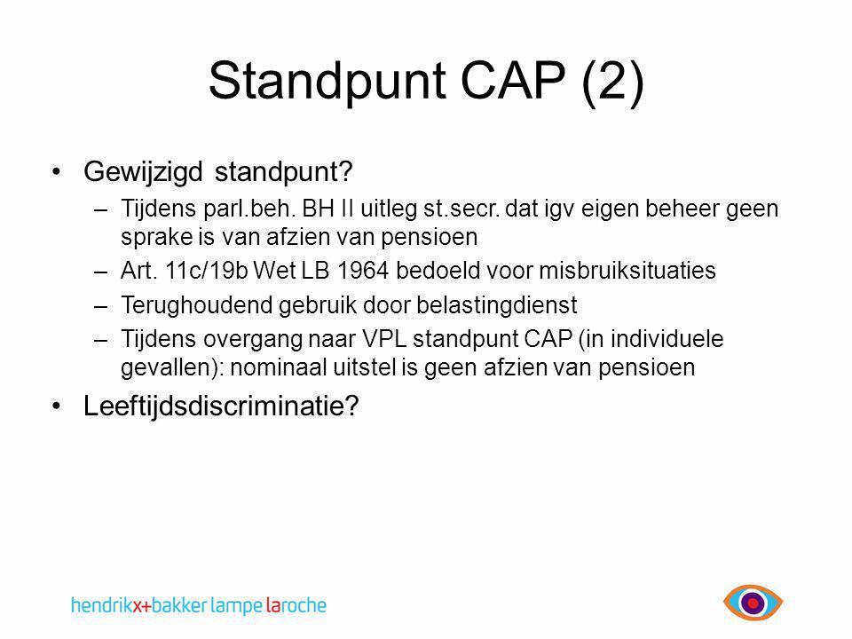 Standpunt CAP (2) Gewijzigd standpunt Leeftijdsdiscriminatie