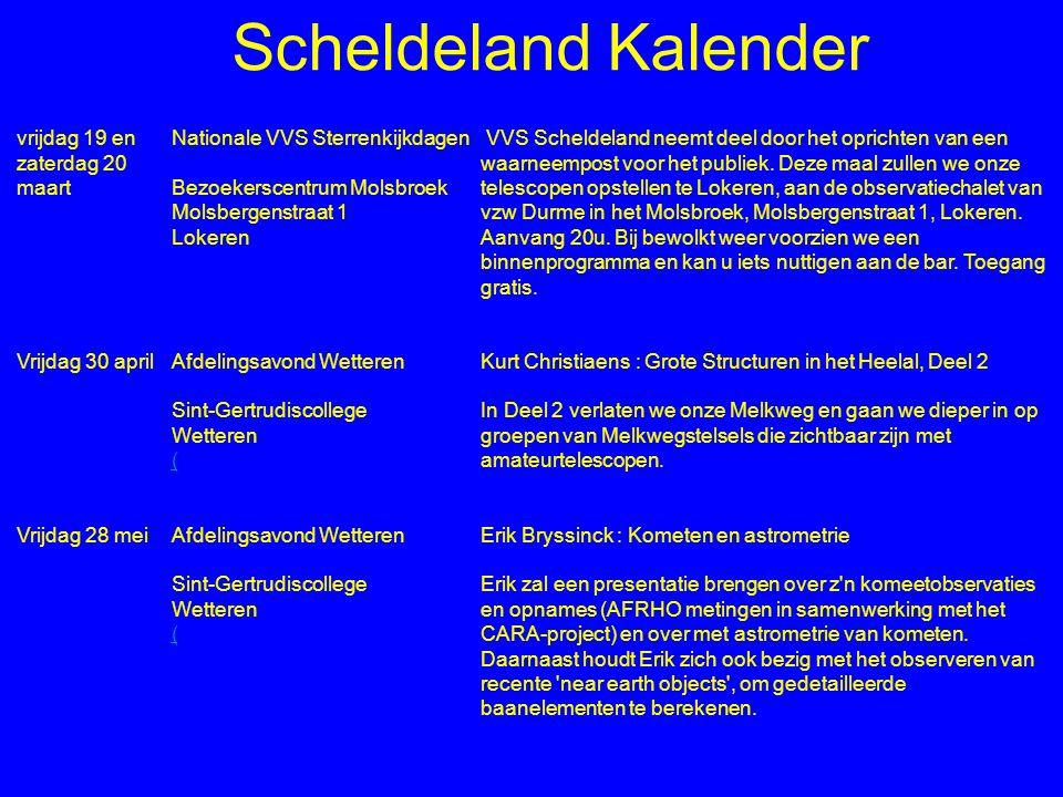 Scheldeland Kalender vrijdag 19 en zaterdag 20 maart