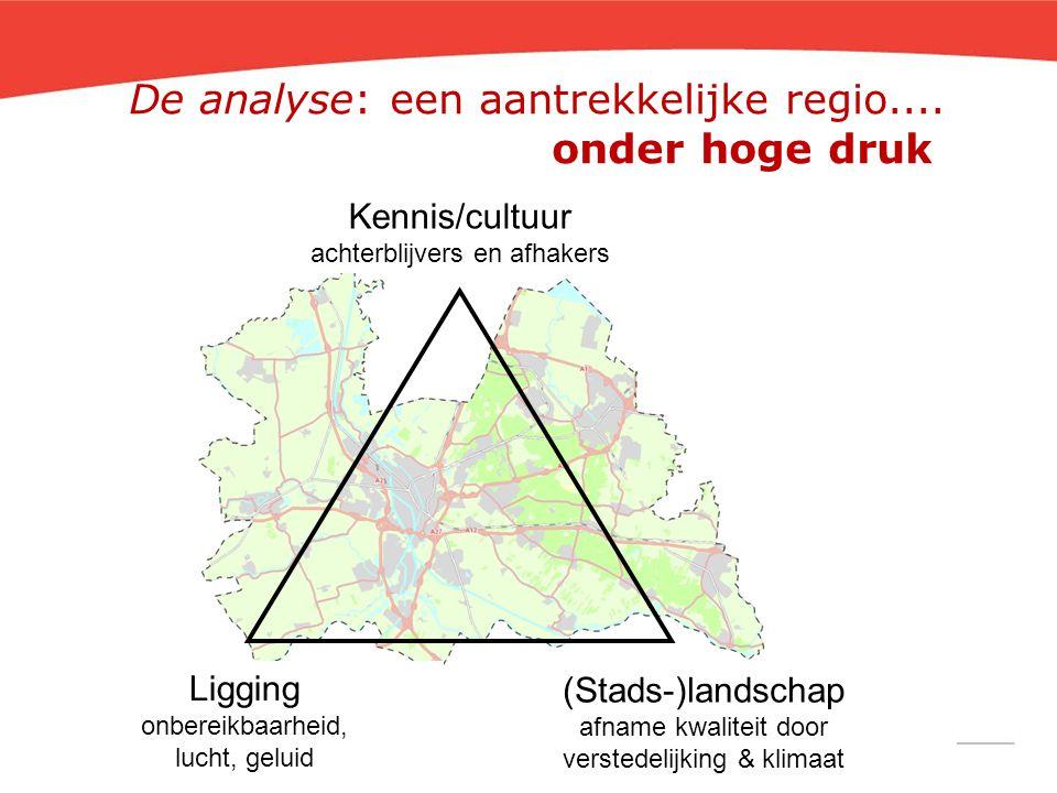 De analyse: een aantrekkelijke regio.... onder hoge druk