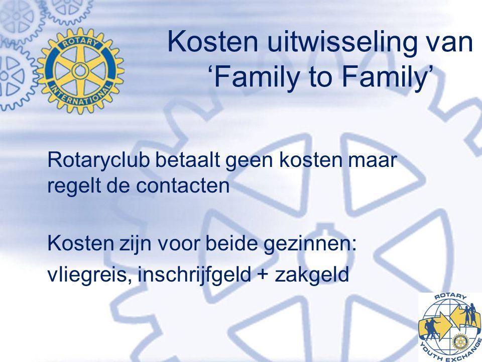 Kosten uitwisseling van 'Family to Family'