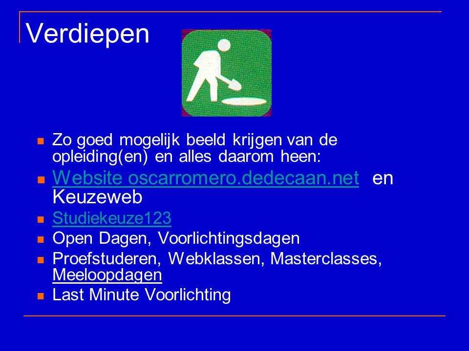 Verdiepen Website oscarromero.dedecaan.net en Keuzeweb