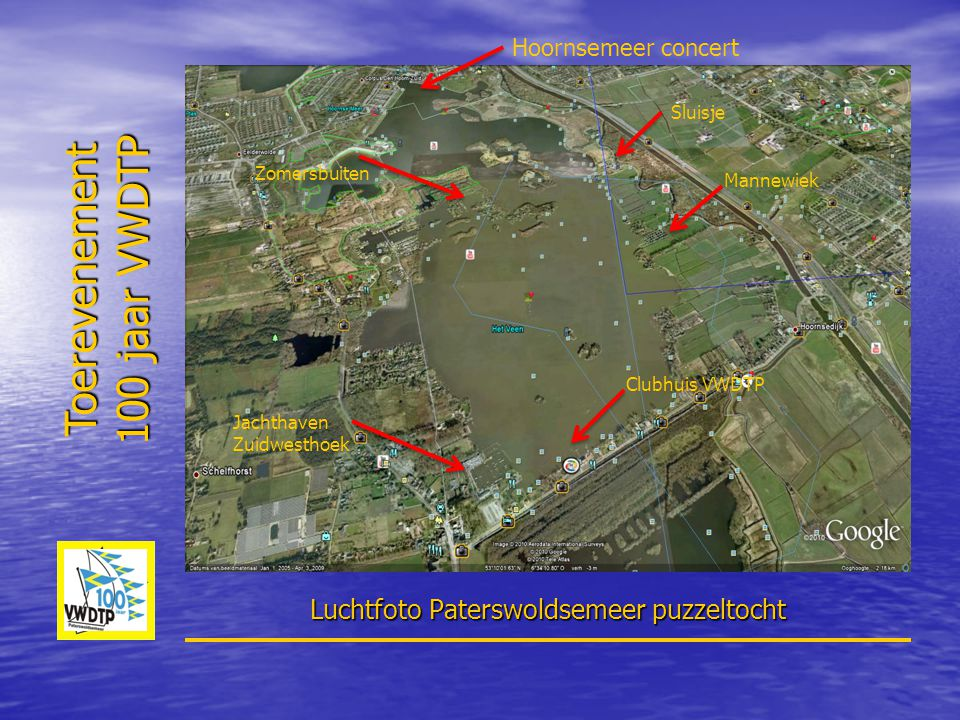 Luchtfoto Paterswoldsemeer puzzeltocht