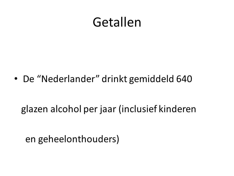 Getallen De Nederlander drinkt gemiddeld 640