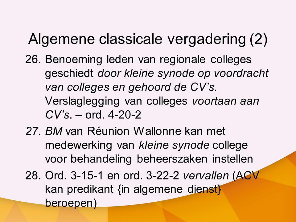 Algemene classicale vergadering (2)