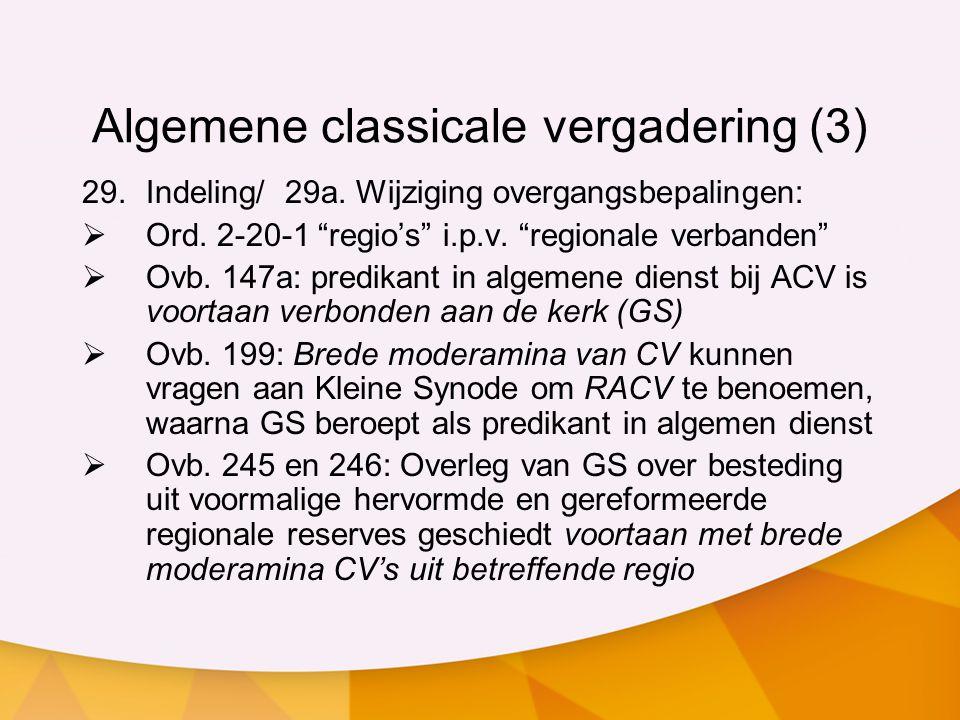 Algemene classicale vergadering (3)