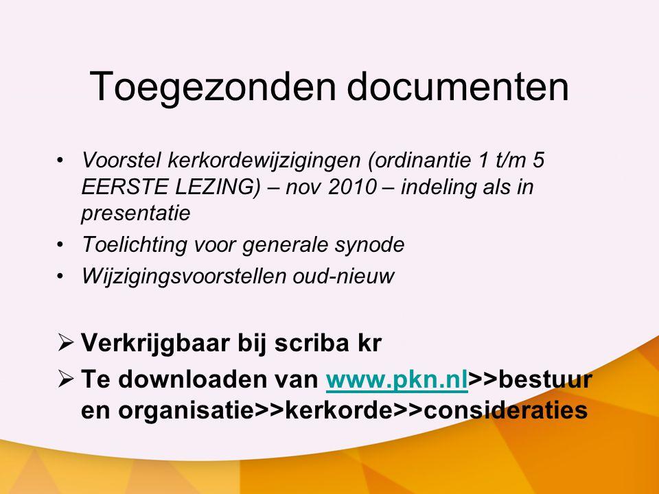 Toegezonden documenten