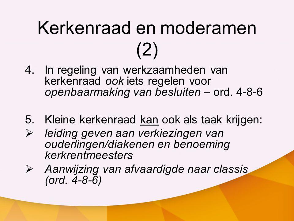 Kerkenraad en moderamen (2)