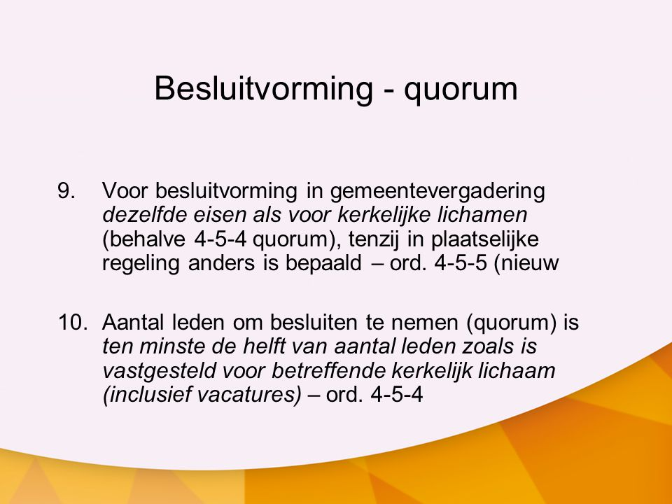 Besluitvorming - quorum