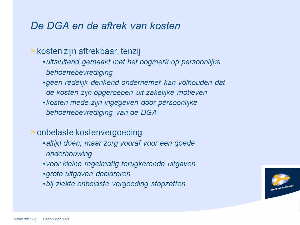 De DGA en de aftrek van kosten