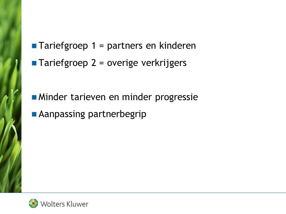 Tariefgroep 1 = partners en kinderen