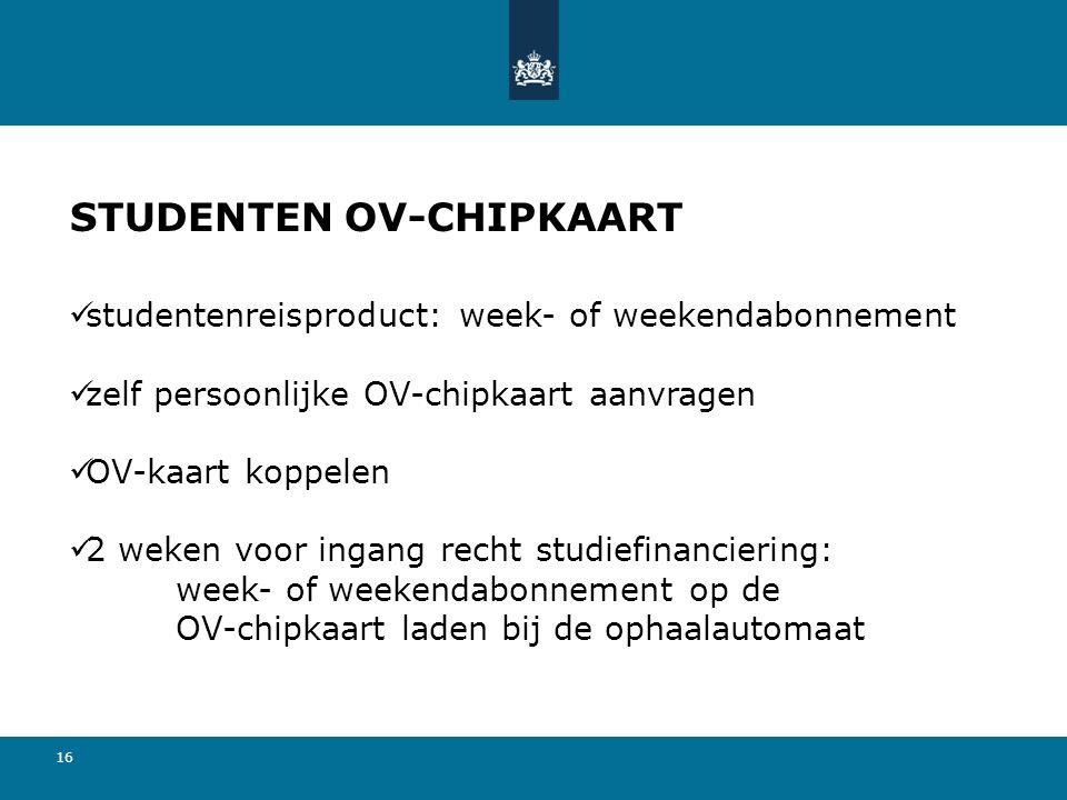 STUDENTEN OV-CHIPKAART