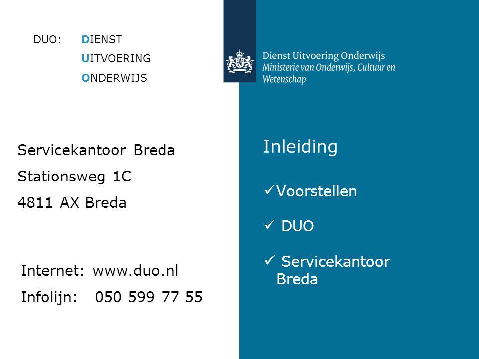 Inleiding Servicekantoor Breda Stationsweg 1C 4811 AX Breda