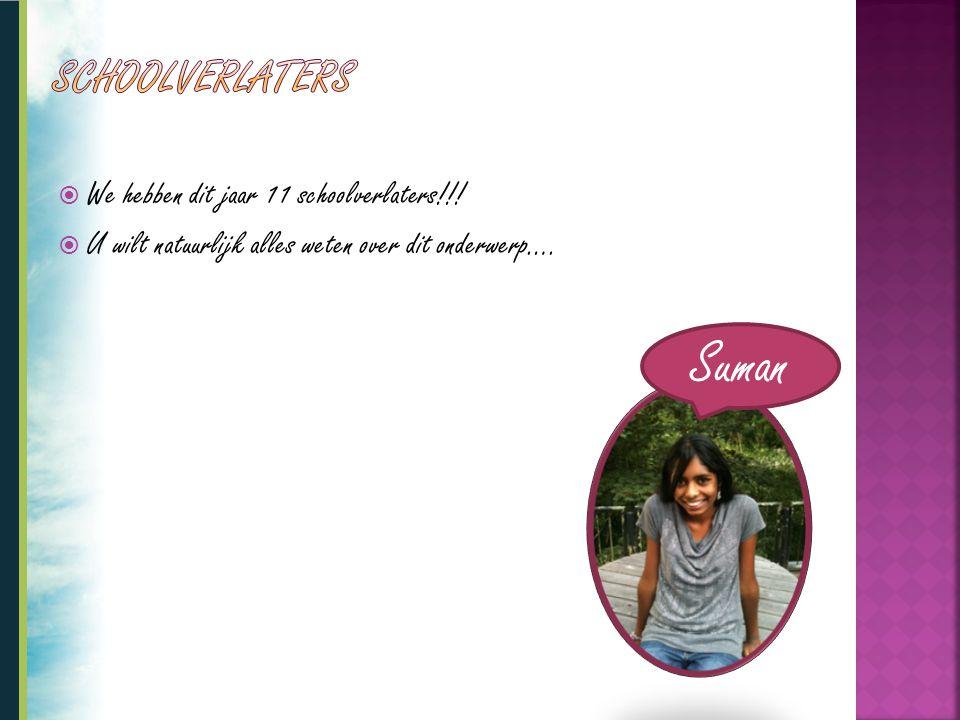 Suman Schoolverlaters We hebben dit jaar 11 schoolverlaters!!!