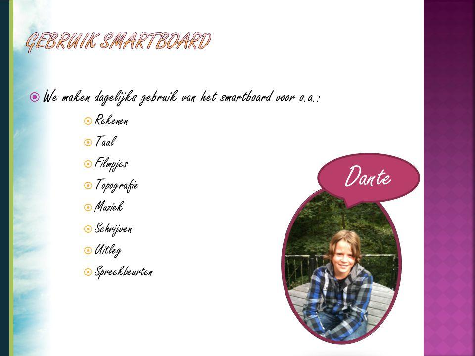 Dante Gebruik smartboard