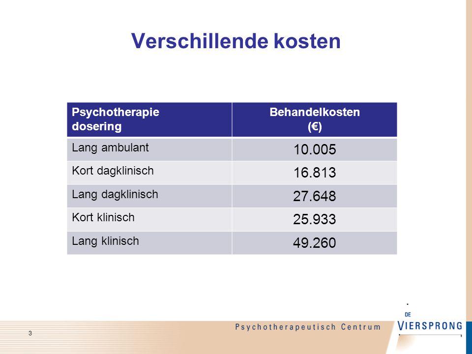 Verschillende kosten 10.005 16.813 27.648 25.933 49.260 Psychotherapie