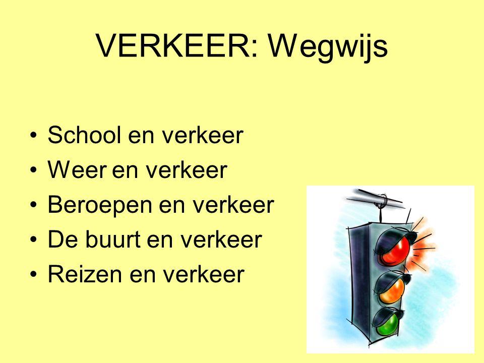 VERKEER: Wegwijs School en verkeer Weer en verkeer Beroepen en verkeer