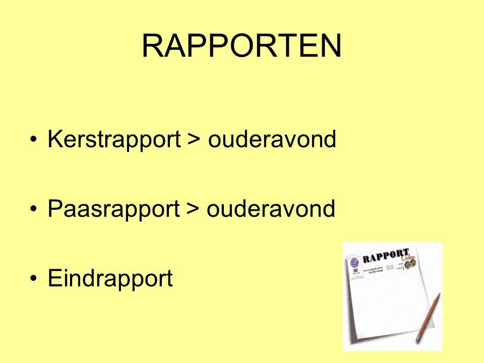RAPPORTEN Kerstrapport > ouderavond Paasrapport > ouderavond