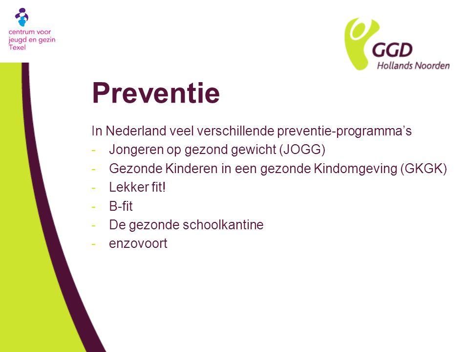 Preventie In Nederland veel verschillende preventie-programma's