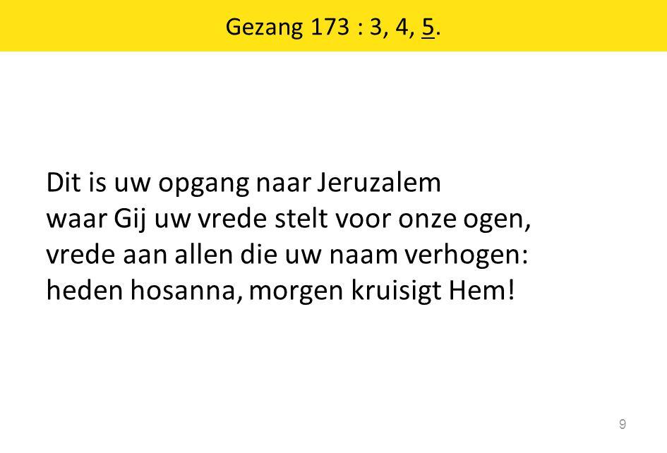 Gezang 173 : 3, 4, 5.
