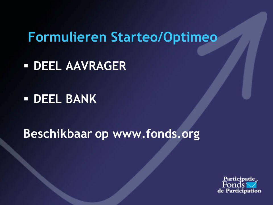 Formulieren Starteo/Optimeo