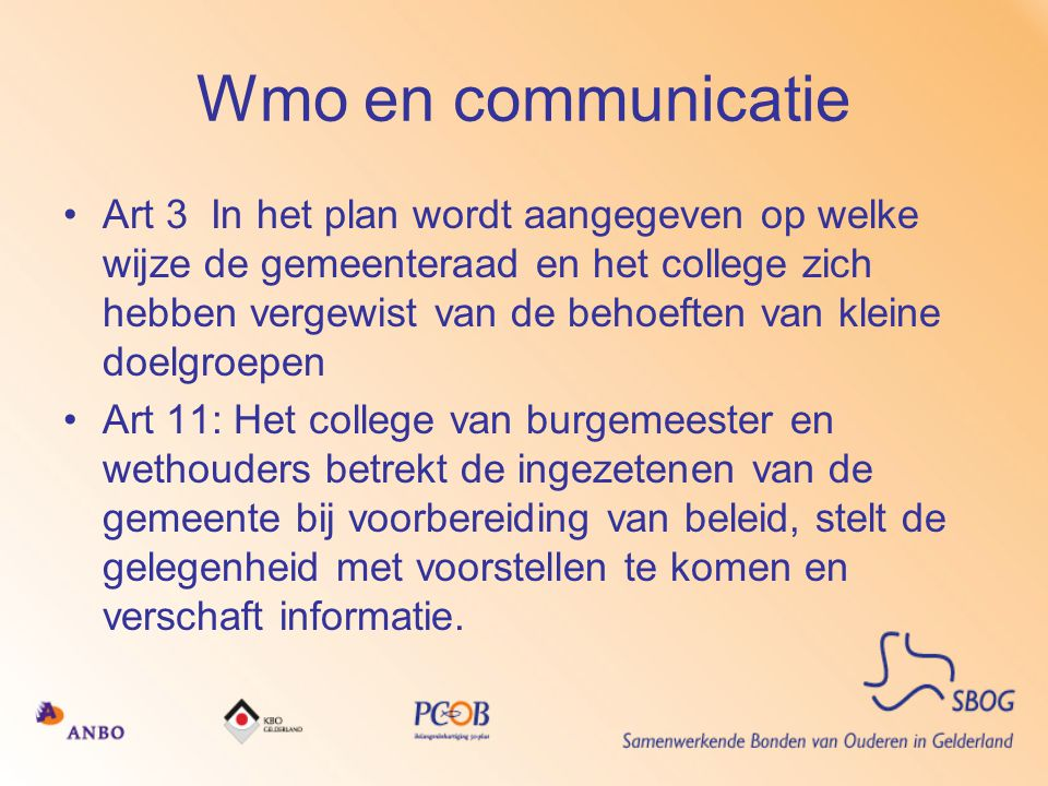 Wmo en communicatie
